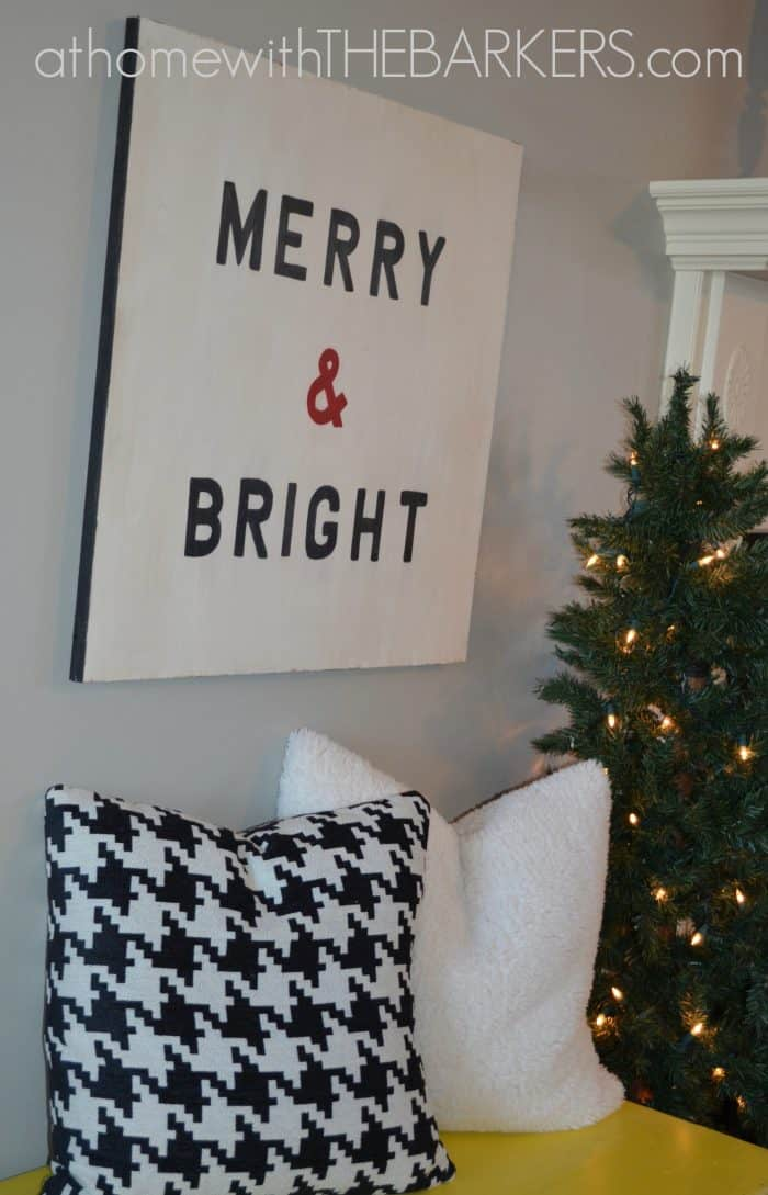 Wooden Sign Merry & Bright