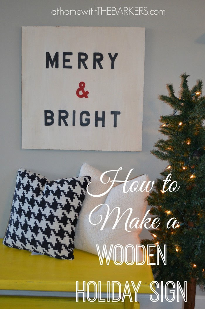 How to make a wooden holiday sign