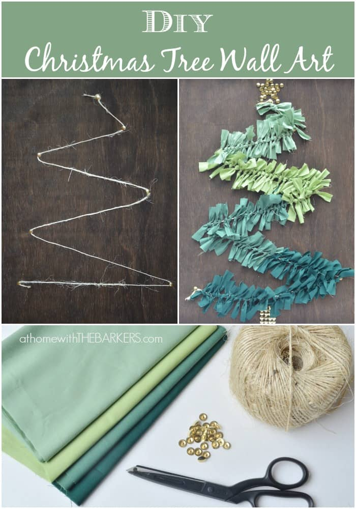 diy christmas tree wall art at home with the barkers - Christmas Wall Art Decor