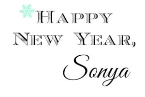 Happy New Year Sonya with snowflake