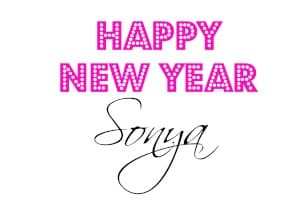 Happy New Year Sonya