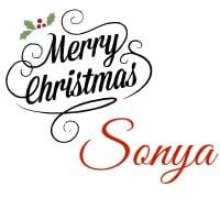 Merry Christmas Sonya
