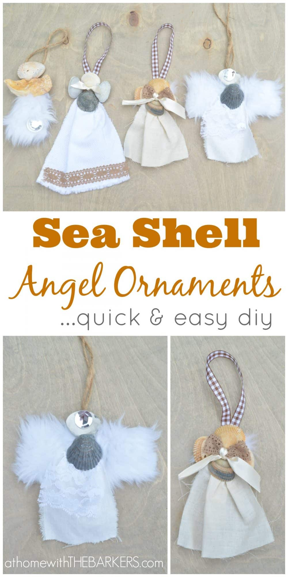 Sea Shell Angel Ornaments Or Gift Accessory At Home