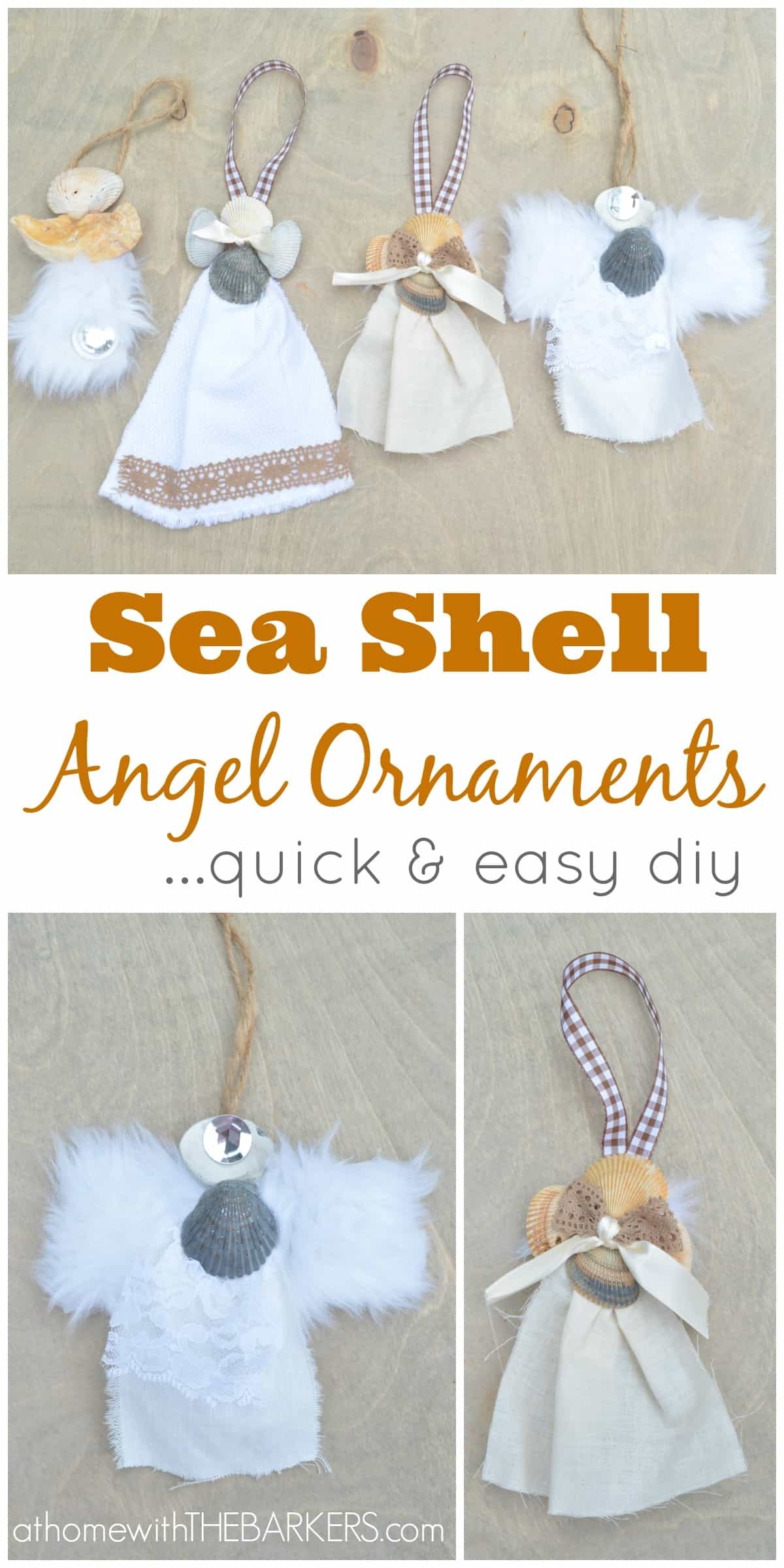 Seashell christmas ornaments - Sea Shell Angel Ornaments Or Gift Accessory At Home With The Barkers