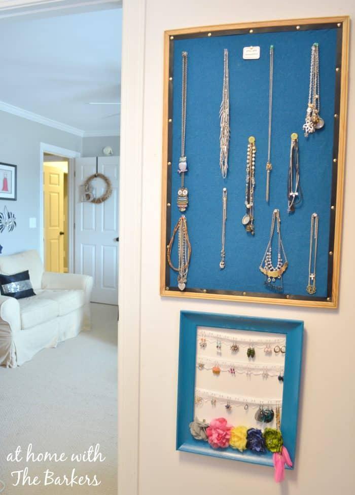 DIY Jewelry Organizer Room View