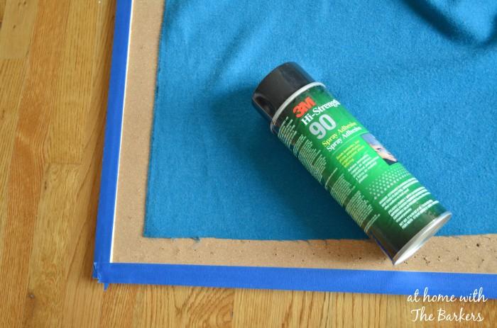 DIY Jewelry Organizer-Spray Fabric with Adhesive