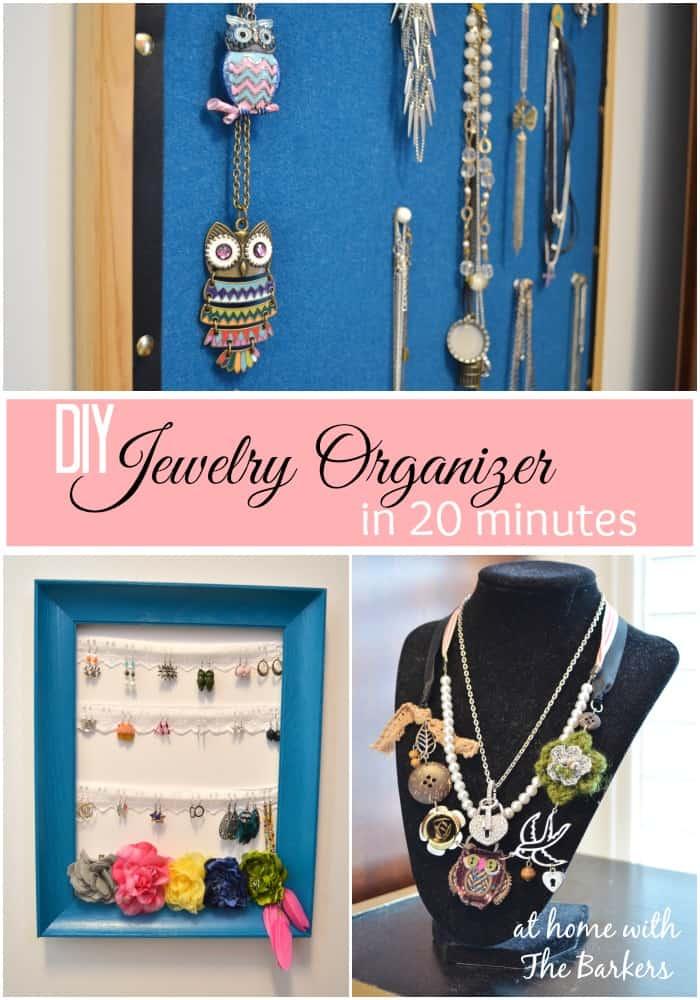 DIY Jewelry Organizer in 20 minutes