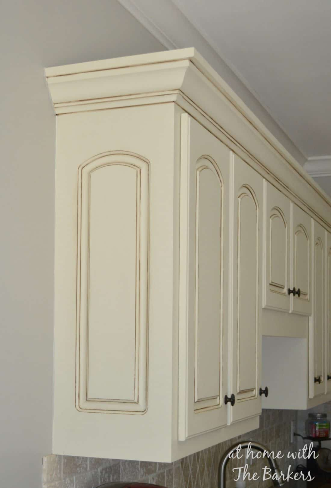 How To Glaze Cabinets At Home With The Barkers