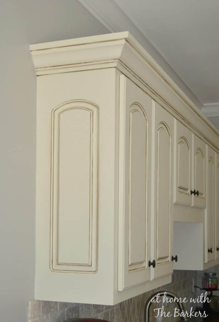 Glazing White Painted Kitchen Cabinets