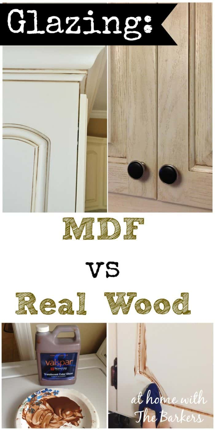 Glazing MDF versus Real Wood - At Home with The Barkers