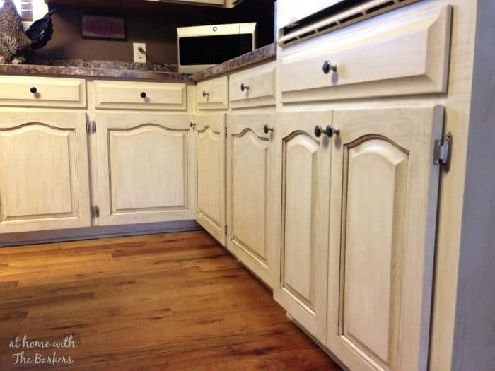 Glazed Oak Cabinets: