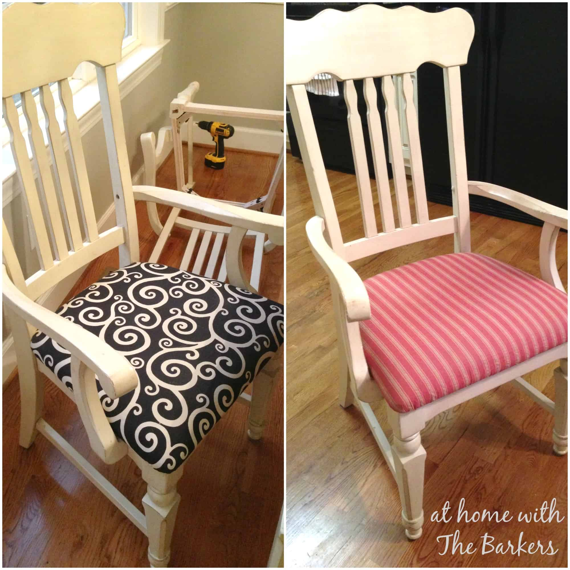 Kitchen Chair Fabric Layers At Home With The Barkers
