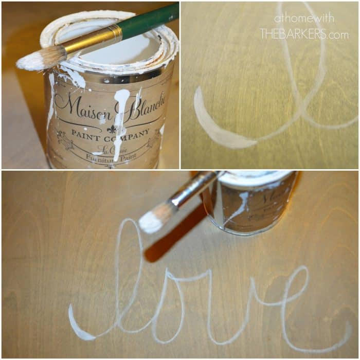 How to create a Wooden Sign with Paint - athomewiththebarkers.com