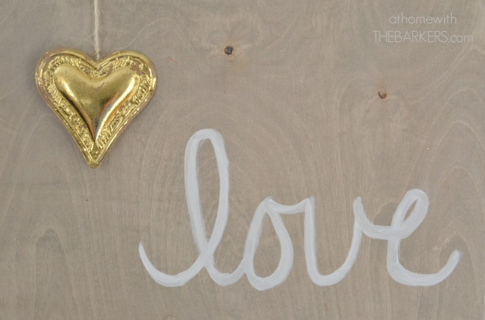 Valentine's Day Wooden Love Sign Home Decor