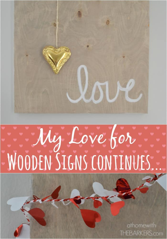 Valentine's Day Wooden Love Sign -athomewiththebarkers.com