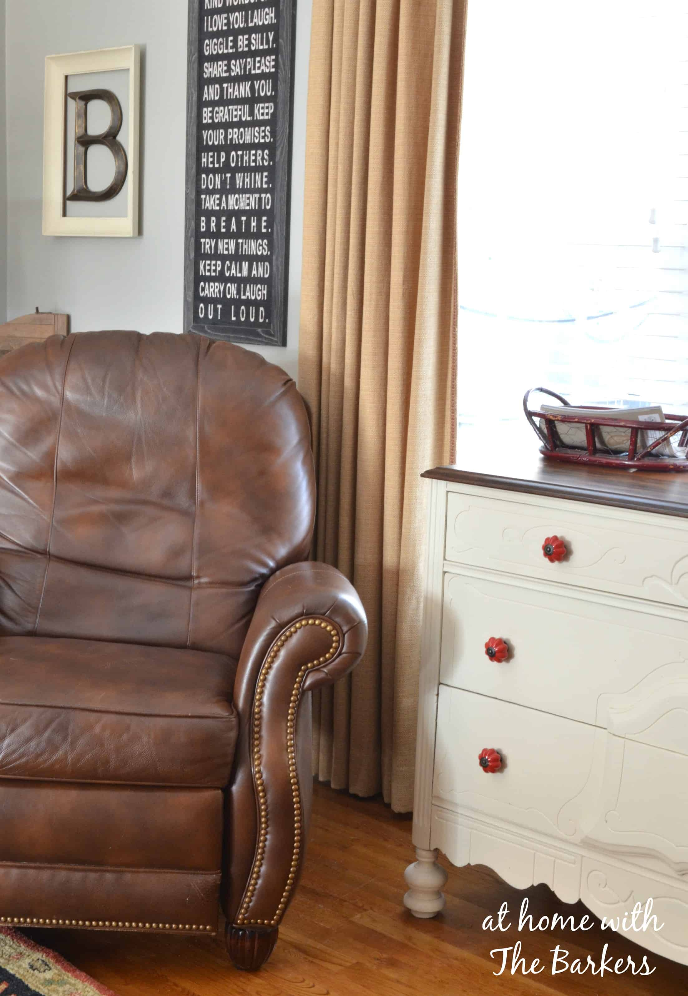 Redesign Living Room Leather Chair At Home With The Barkers