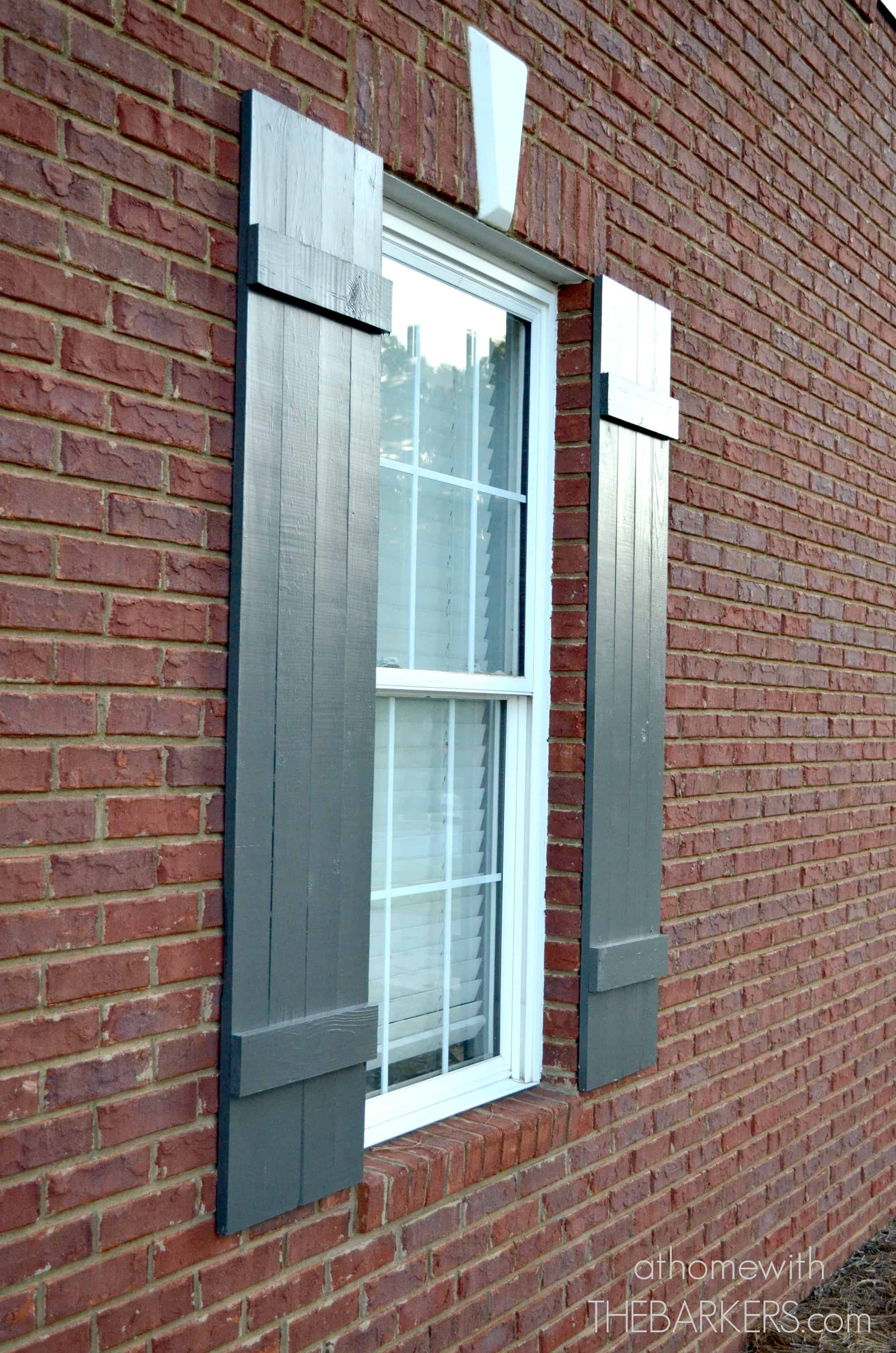 Shutters after at home with the barkers for How to build board and batten exterior shutters