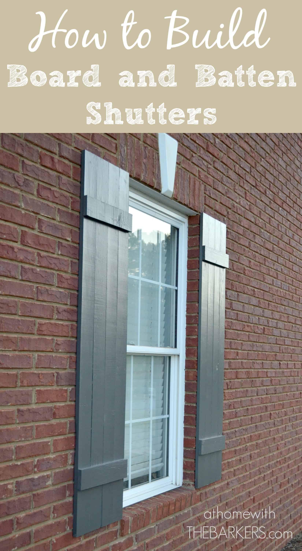 shutters how to build board board and batten at home with the barkers ForHow To Build Board And Batten Exterior Shutters