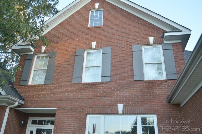 Shutters on second story windows