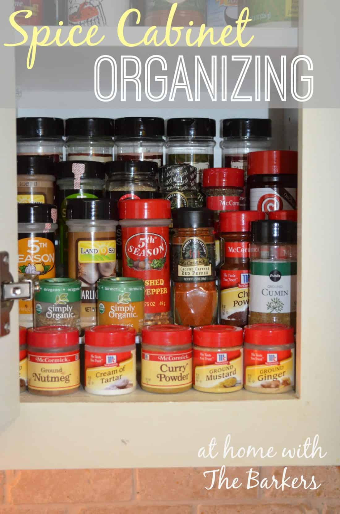 Spice Cabinet Organizing At Home With The Barkers