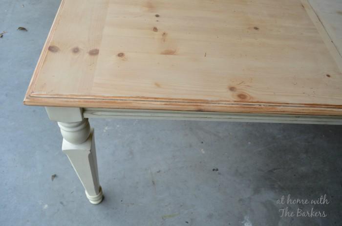 Farmhouse Table Sanded