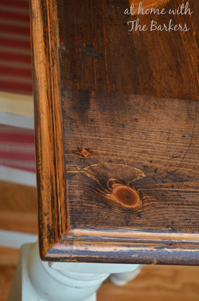 Farmhouse Table Stain details
