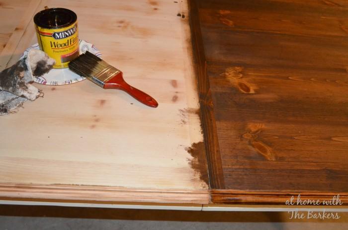 Farmhouse Table Staining
