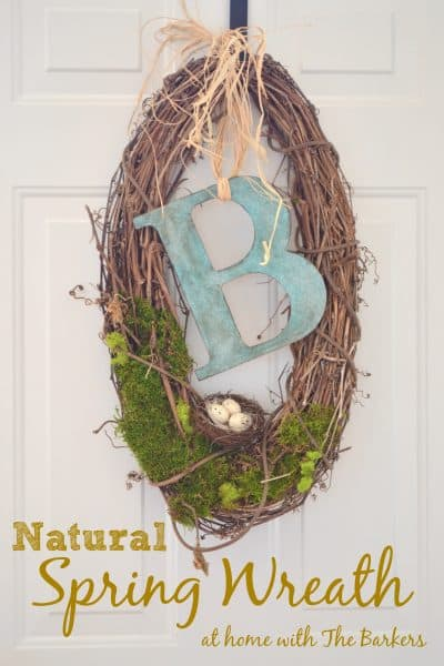 Natural Spring Wreath- At Home with The Barkers
