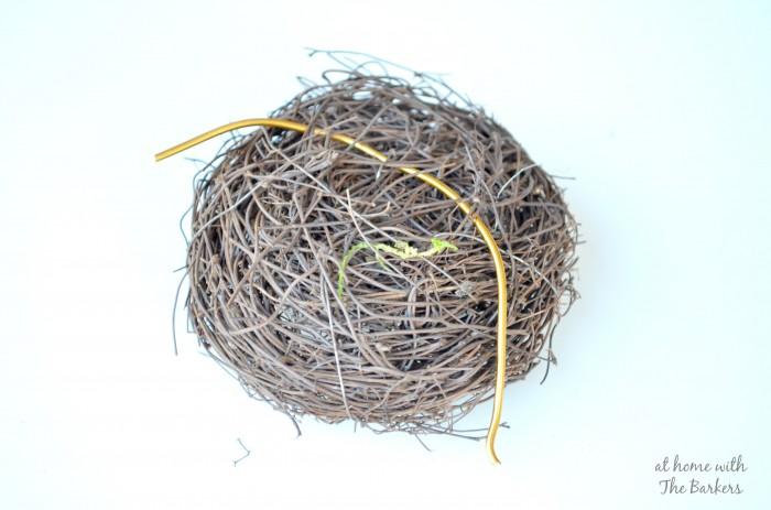Natural Spring Wreath-Birds nest