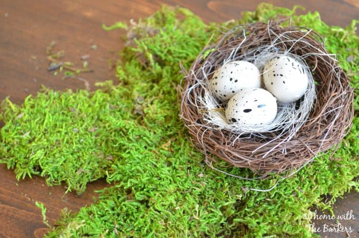 Natural Spring Wreath-Birds nest and moss
