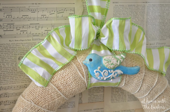 Spring Wreath-Bird and Ribbon