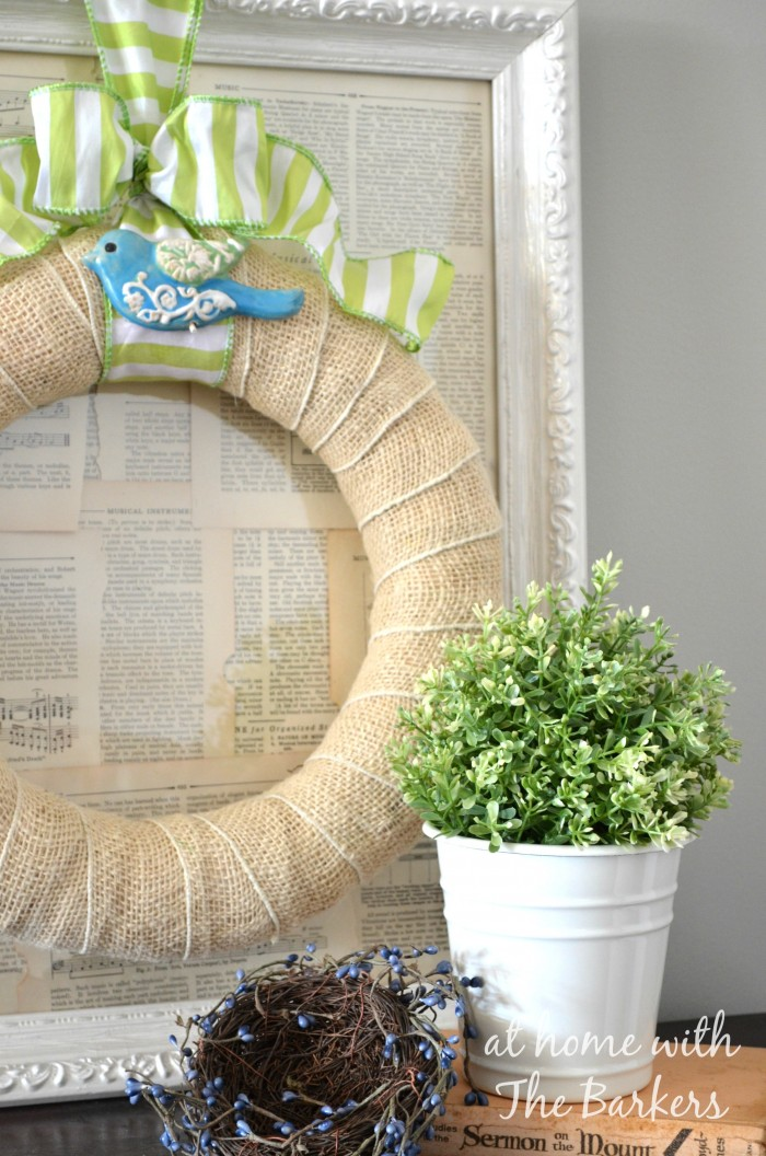 Spring Wreath-Blue Bird