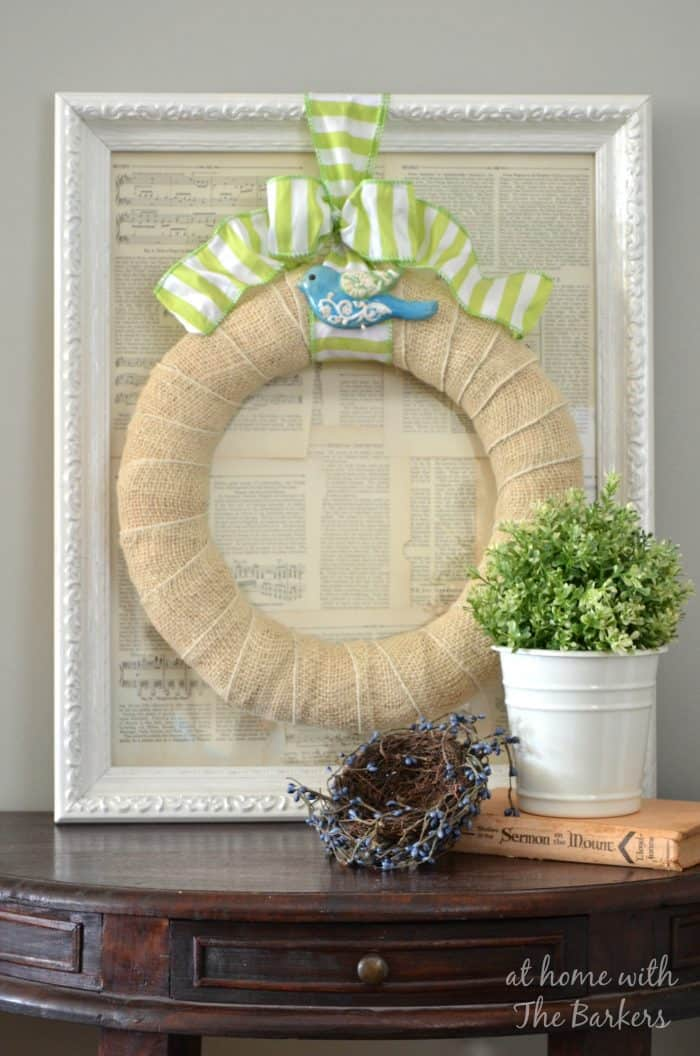Spring Wreath for Indoors-Table Display
