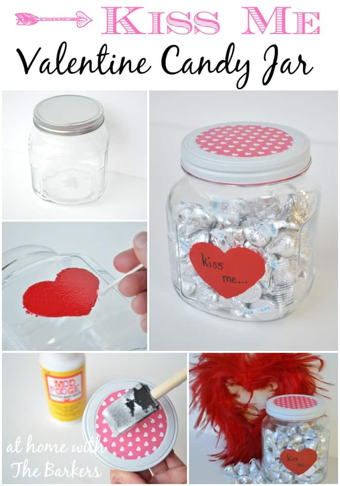 DIY Valentine Candy Jar for your Valentine - athomewiththebarkers.com