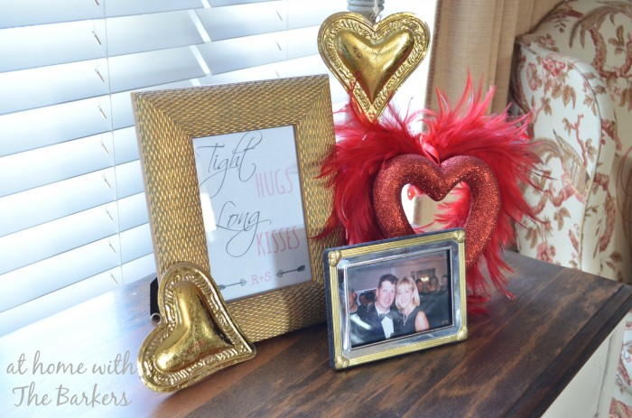 Valentine Display for family room table