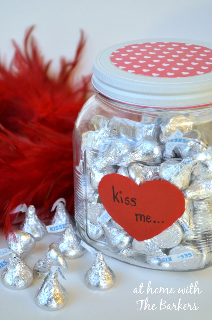 Valentine Kiss Me Candy Jar
