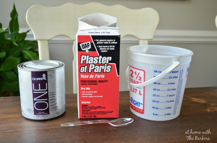 Homemade Chalk Finish Paint-Supplies