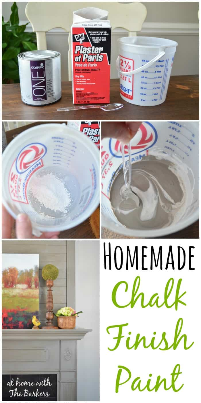 homemade chalk finish paint at home with the barkers