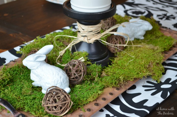 Spring Table by At Home with The Barkers #Spring #tablescape