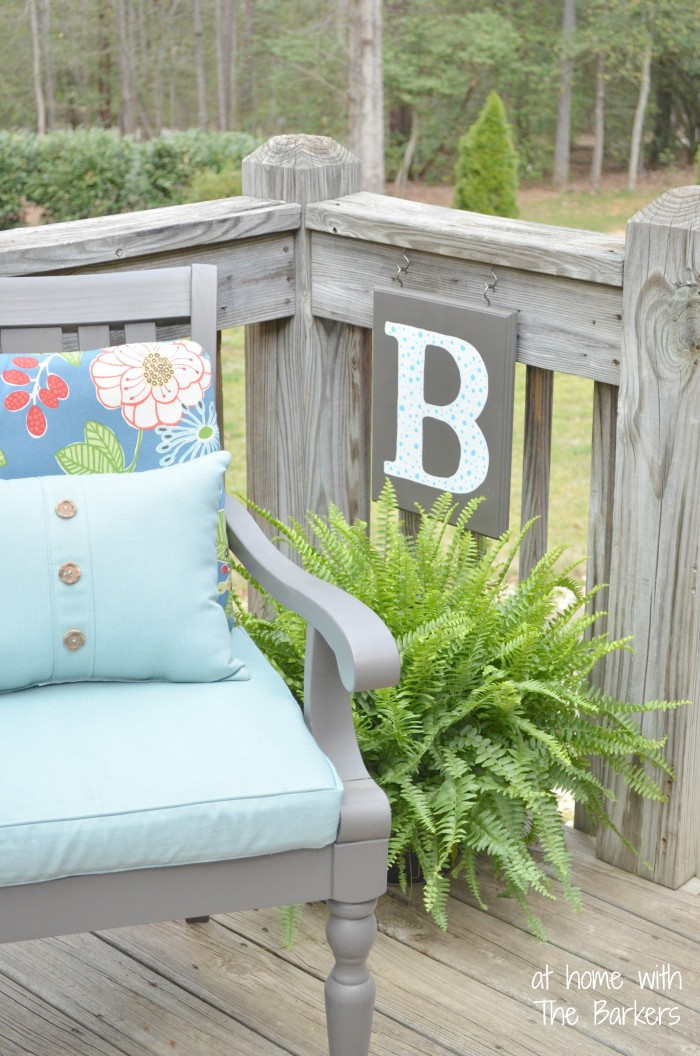 Spring Cleaning Outdoors-DIY monogram flag