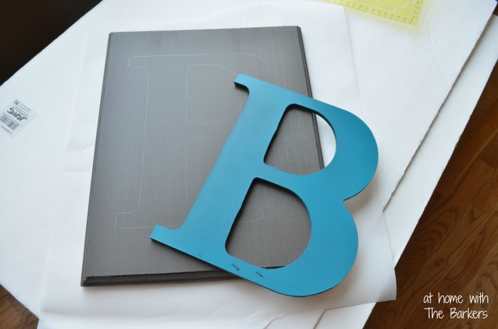 DIY Monogram Flag-Trace Letter