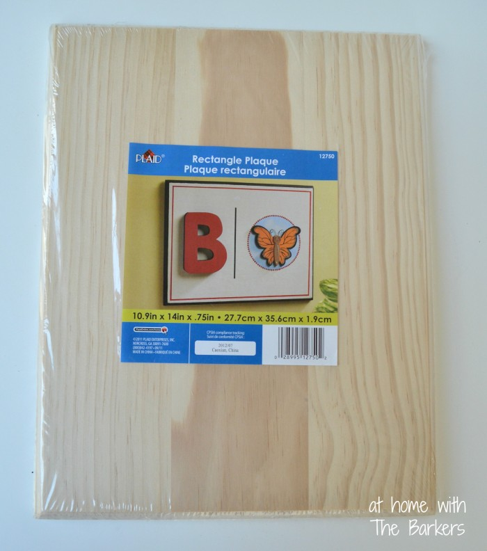 DIY Monogram Flag-Wooden Plaque