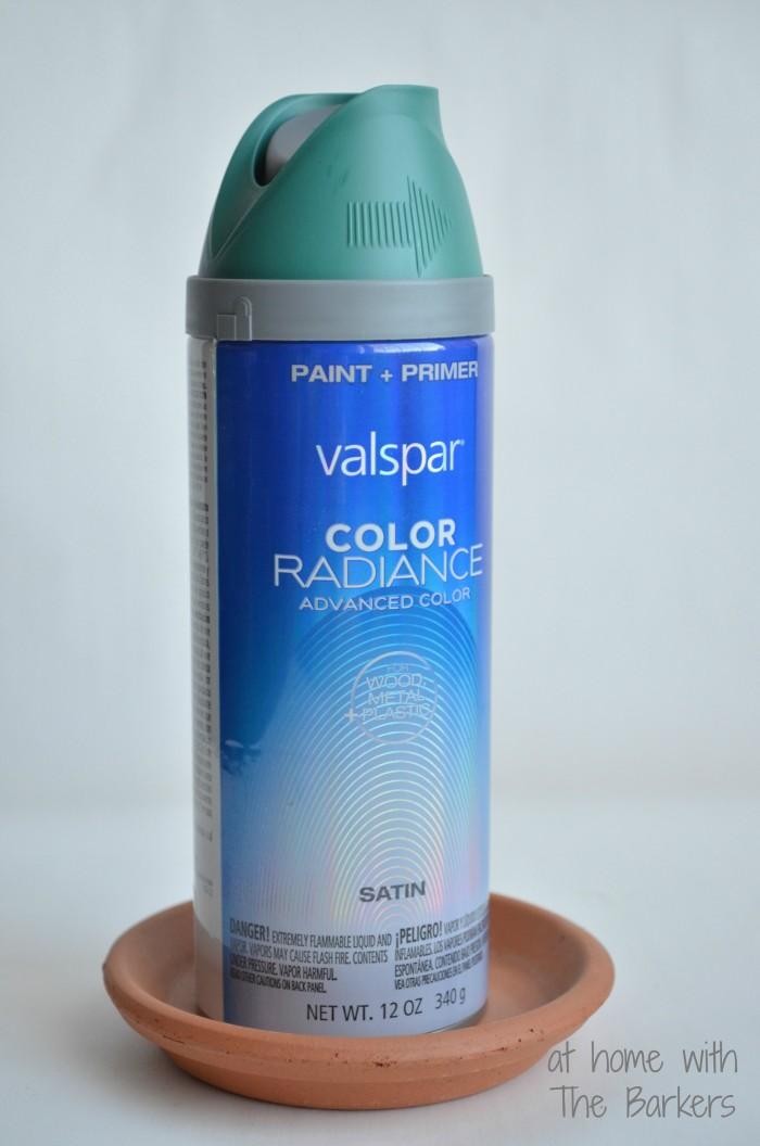 DIY Nautical Coasters-Spray Paint