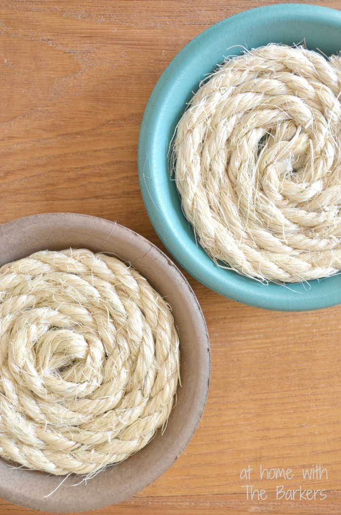 DIY Nautical Coasters-Sisal Rope Design