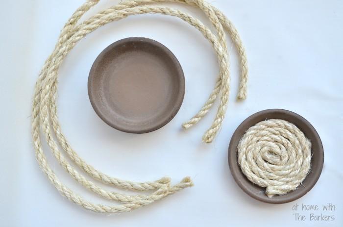 DIY Nautical Coasters-Sisal Rope