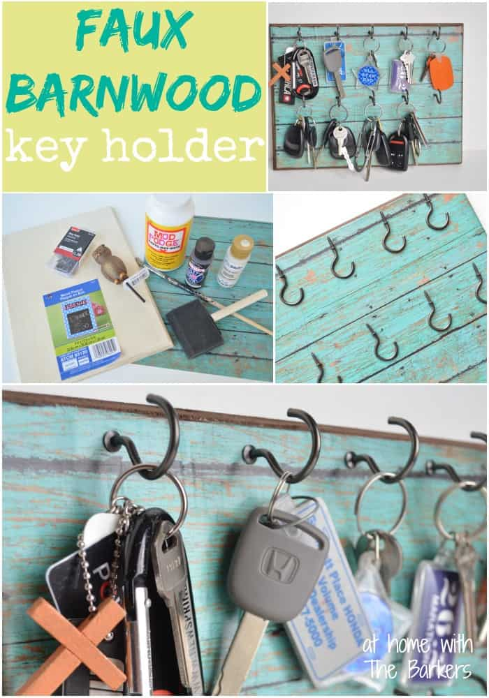 Faux Barnwood Key Holder-At Home with The Barkers