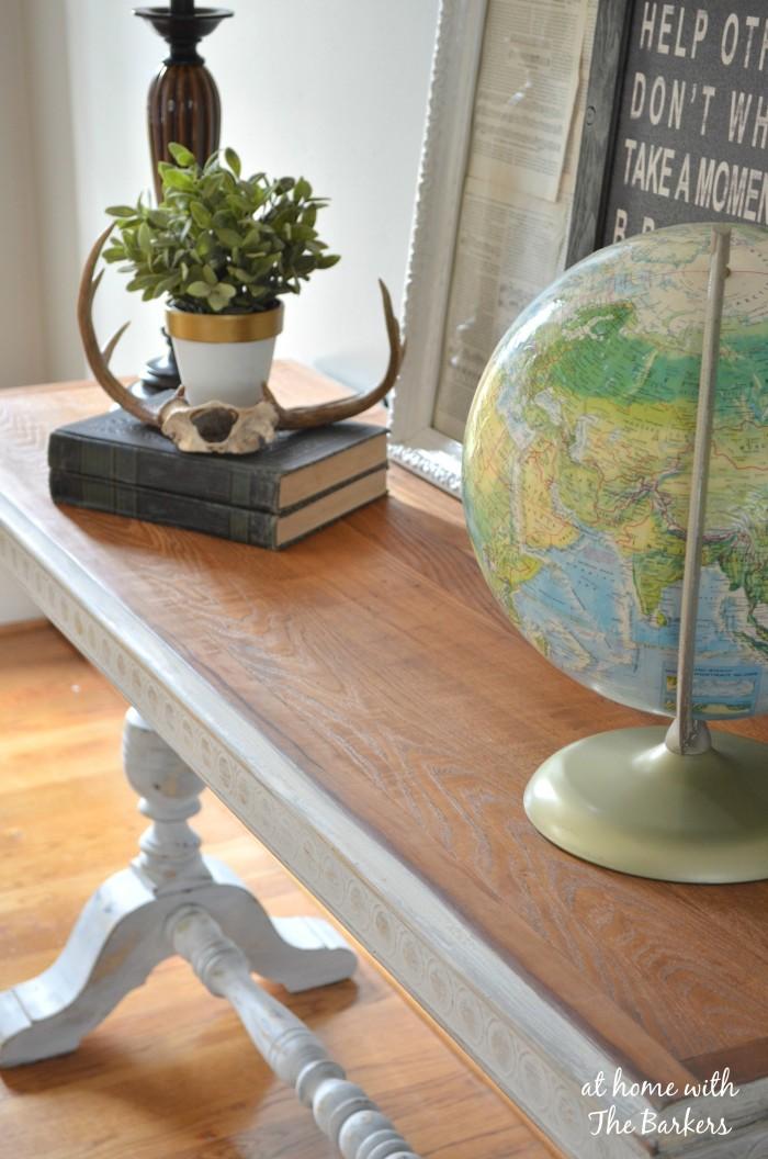 Garage Sale Table Makeover Wood Grain
