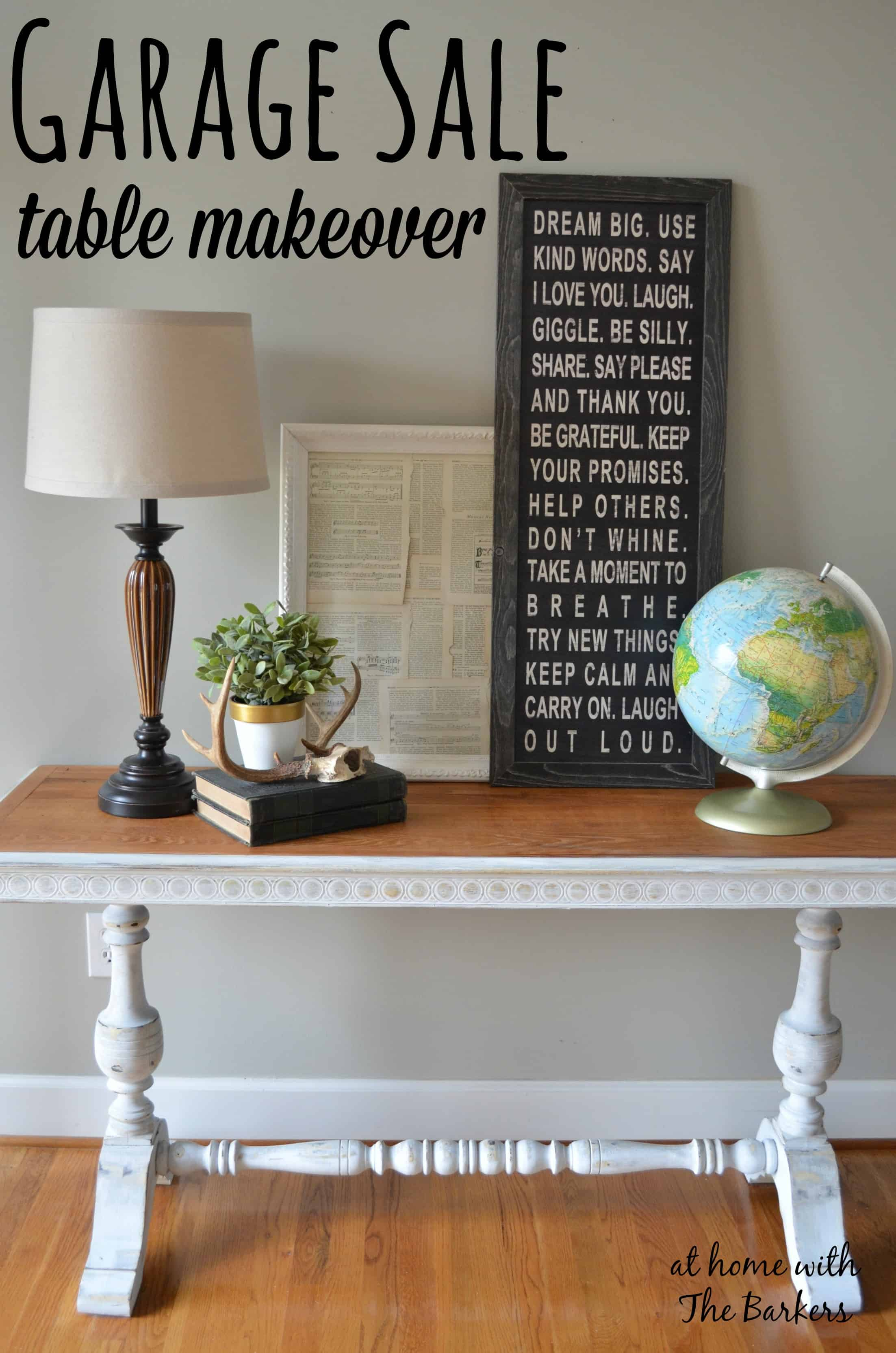 Garage Sale Table Makeover