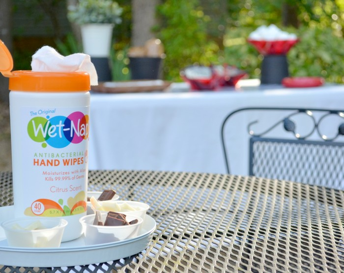 S'more Dessert Bar- Wet-Nap-Canister Wipes #showusyourmess #pmedia #ad