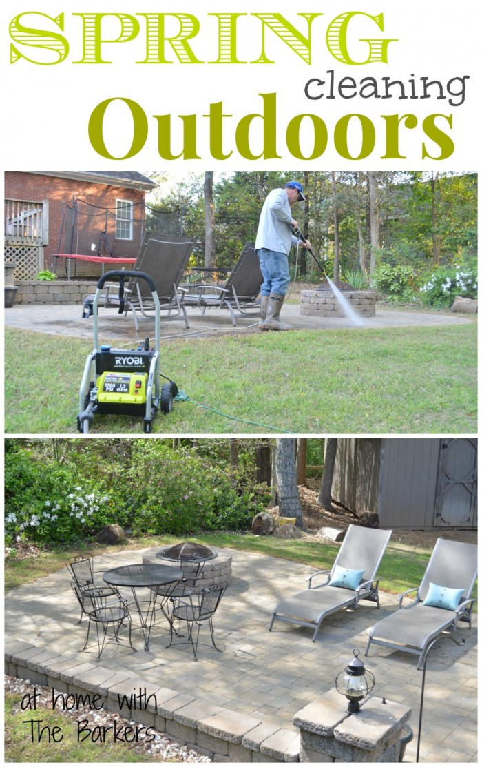 Spring Cleaning Outdoors-At Home with The Barkers